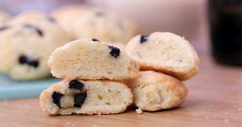 Craquez pour les biscuits apéritif parmesan olives !