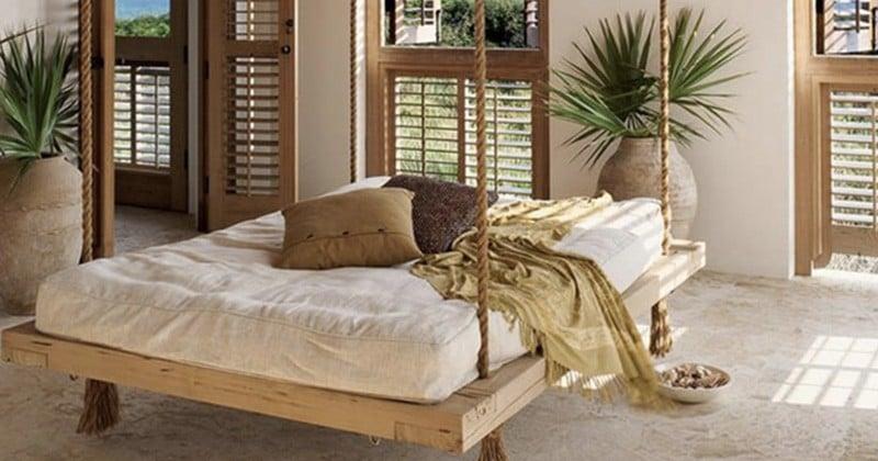 Découvrez 25 manières d'ajouter de l'originalité dans votre chambre grâce au lit en palette!