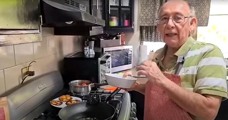 À 79 ans, il perd son emploi à cause de la crise sanitaire et lance sa chaîne de cuisine sur YouTube