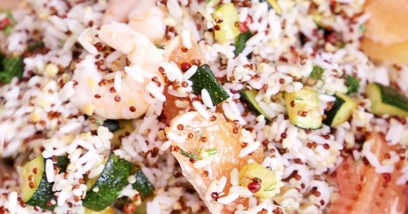 salade de riz et quinoa