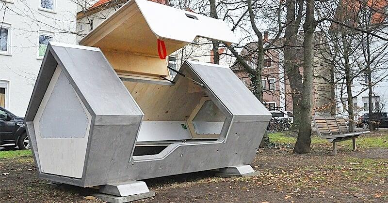 Une ville allemande a développé des capsules anti-froid pour permettre aux sans-abri de passer l'hiver en sécurité