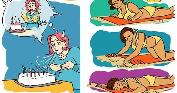 16 situations que les filles aux gros seins connaissent par cœur, en illustrations !