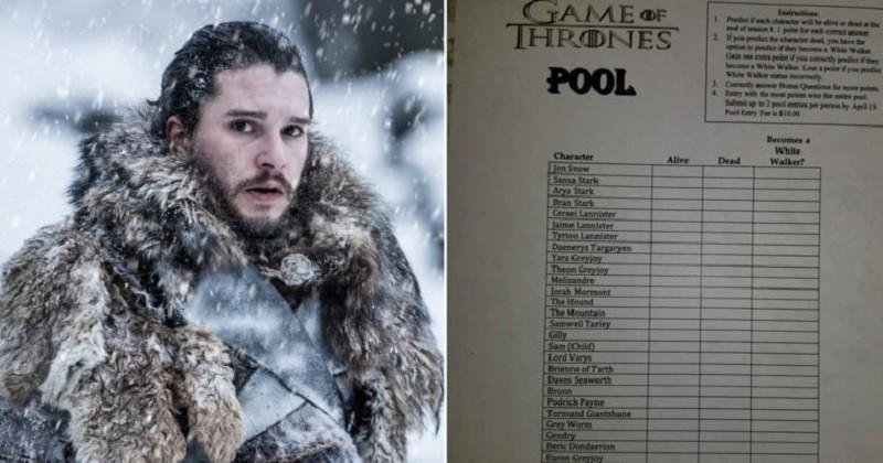 L'idée originale d'un patron qui propose à ses employés de parier sur les morts des personnages de Game of Thrones