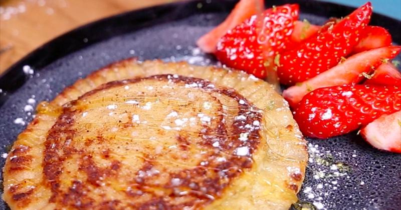 Fan de pain perdu ? Testez cette recette originale et gourmande de pain perdu au mascarpone, au miel et à la cannelle !