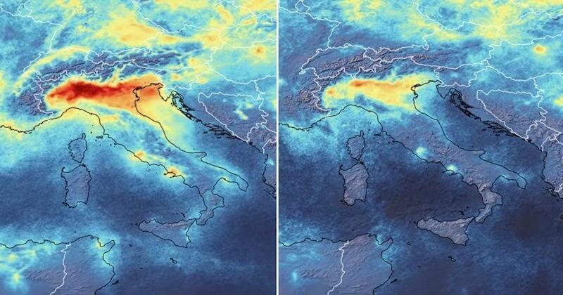 Tout comme en Chine, la pollution atmosphérique diminue considérablement en Italie avec le coronavirus
