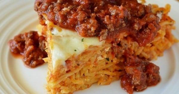 Gâteau aux spaghettis