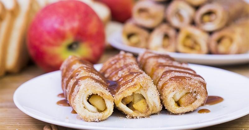 Le pain perdu roulé pomme-cannelle-caramel totalement irrésistible !