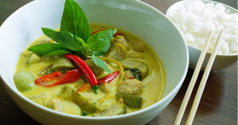 Curry vert de poulet, un plat thaïlandais