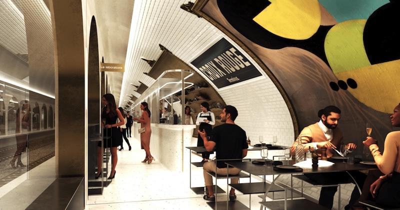 En 2021, la station de métro «Croix-Rouge» devient un resto et bar à cocktails !