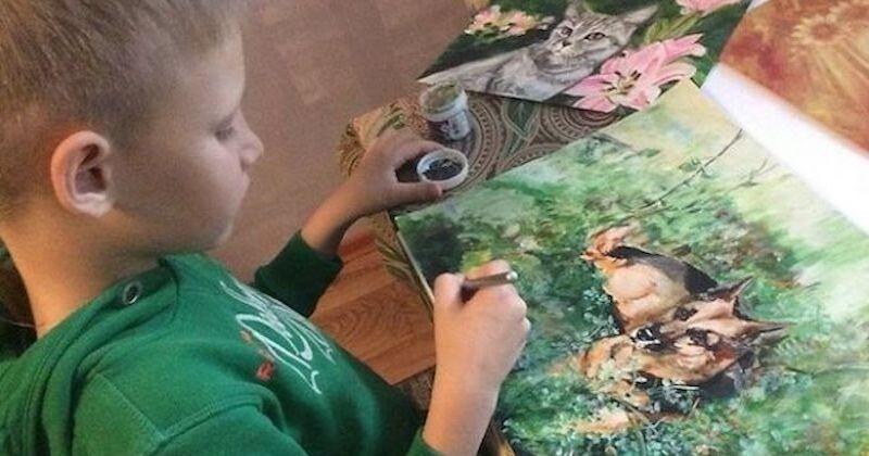 Il Peint Des Portraits D Animaux En Echange De Nourriture Et De Fournitures Qu Il Donne A Un Refuge Animalier