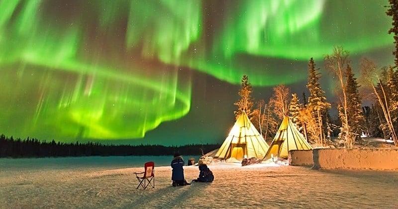 Canada : l'Aurora Village, un lieu magique pour observer les aurores boréales