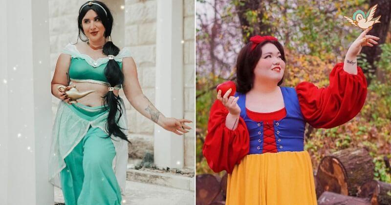 Des mannequins grande taille en princesses Disney pour montrer que la beauté n'est pas une question de kilos