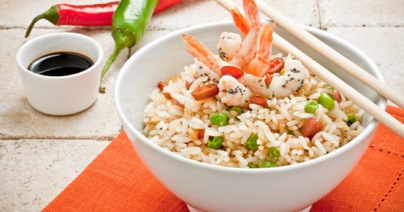 Découvrez une variante du riz cantonnais avec des crevettes !