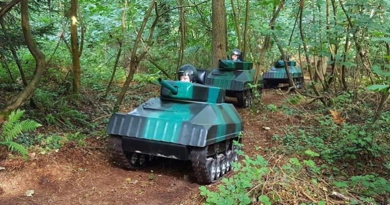 En Mayenne, un parc de loisirs unique en France pour faire des batailles de mini-tanks va bientôt ouvrir