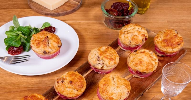 Tous vos invités vous remercieront pour ces muffins enroulés de lard !