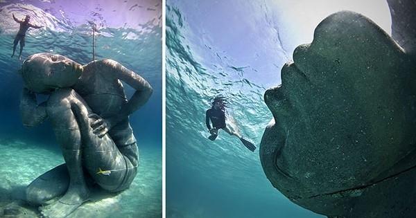 Entre poésie, mythologie et écologie : découvrez la plus grande statue sous-marine au monde !