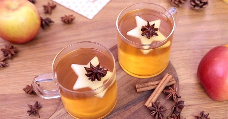 Réchauffez-vous avec le cidre chaud à la poire et aux épices !