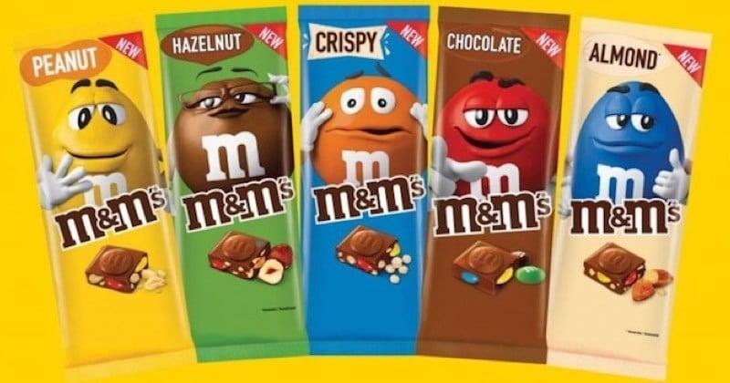 M&M's lance ses tablettes de chocolat