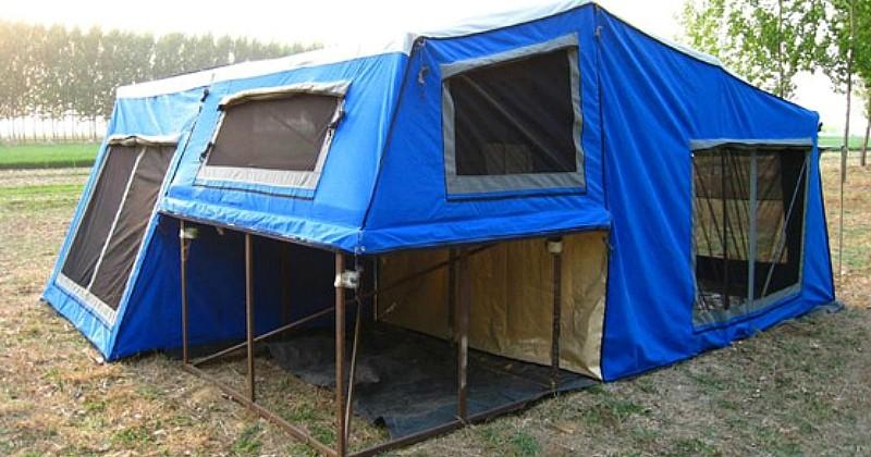 18 mètres carrés habitables et moins de 5 minutes pour la monter: voici la tente du futur, plus grande que certains studios !
