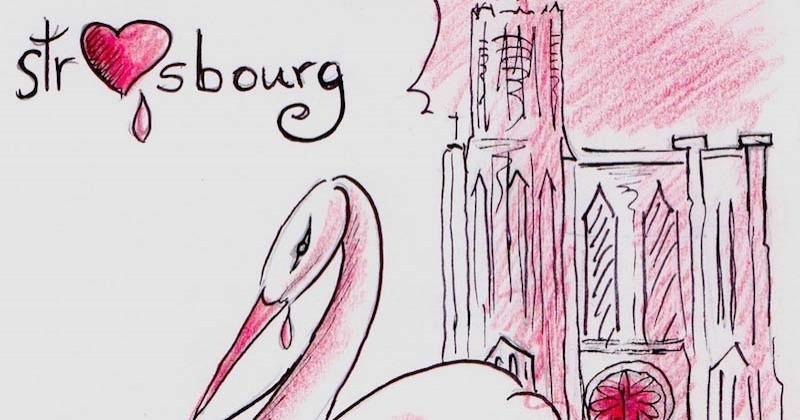 Un illustrateur breton rend hommage à Strasbourg et aux Alsaciens à travers un dessin touchant