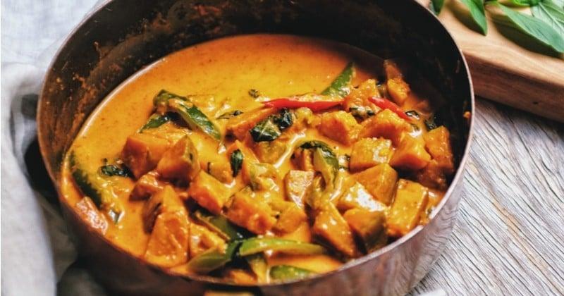 curry au butternut et au lait de coco