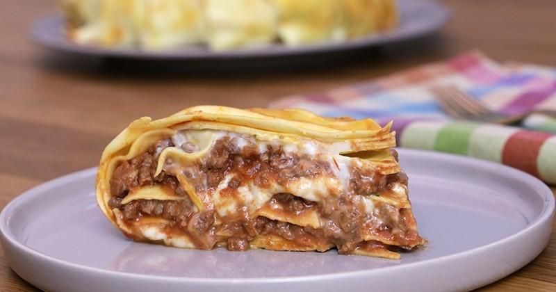 Amusez-vous à préparer un gâteau de lasagnes Giovanni Rana, un plat surprenant et toujours aussi gourmand!