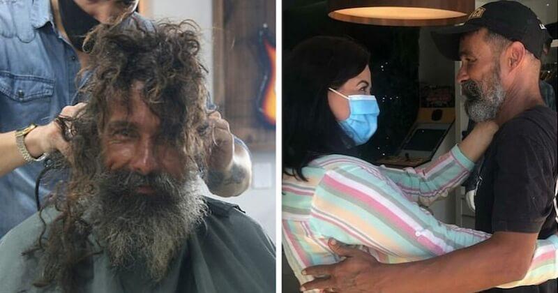 Un sans-abri retrouve sa famille grâce à des photos de son relooking postées sur les réseaux sociaux
