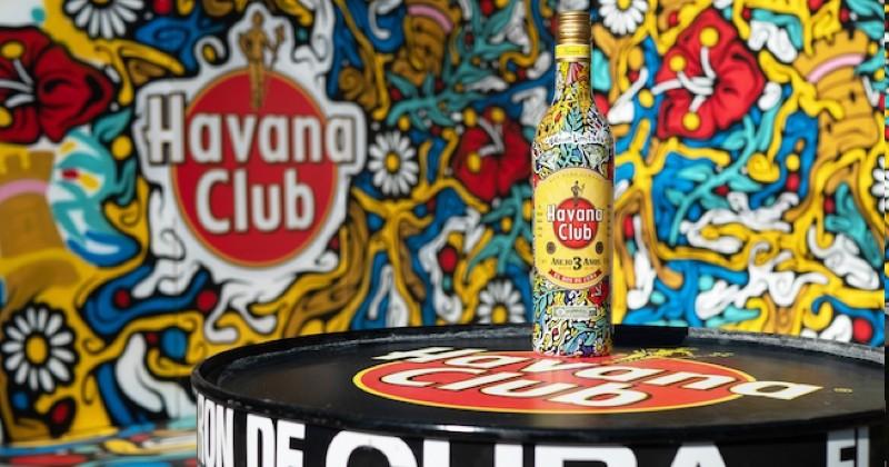 Havana Club dévoile une nouvelle bouteille dessinée par le street artist Bebar