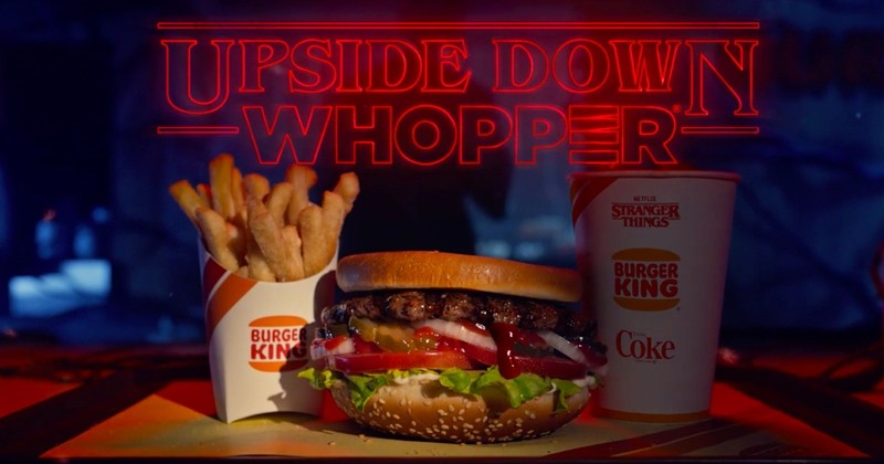 Burger King lance «l'Upside Down Whopper» pour fêter la nouvelle saison de Stranger Things