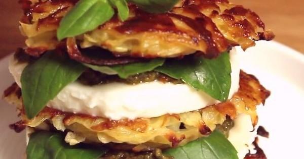 Les galettes de pommes de terre à la mozzarella façon burger de Brandt : un repas gourmand et vraiment délicieux !