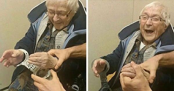 À 99 ans, cette grand-mère a été arrêtée et mise en prison... «parce qu'elle voulait vivre ça une fois dans vie, avant de mourir» ! Les photos sont drôles et touchantes