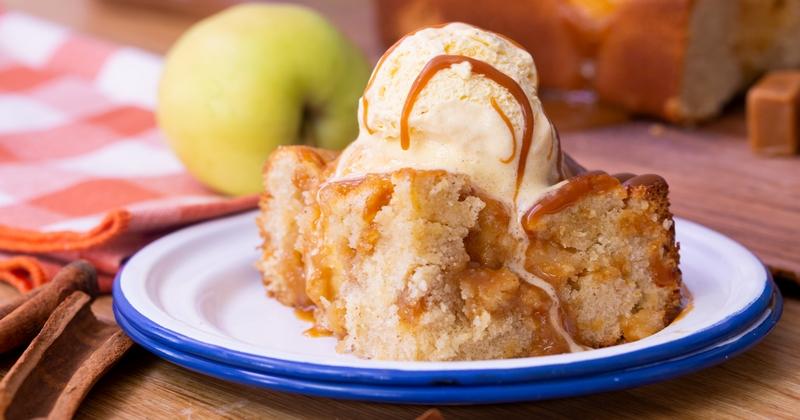 Gâteau pomme caramel