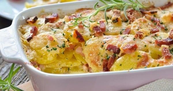 Gratin de pommes de terre bacon et parmesan
