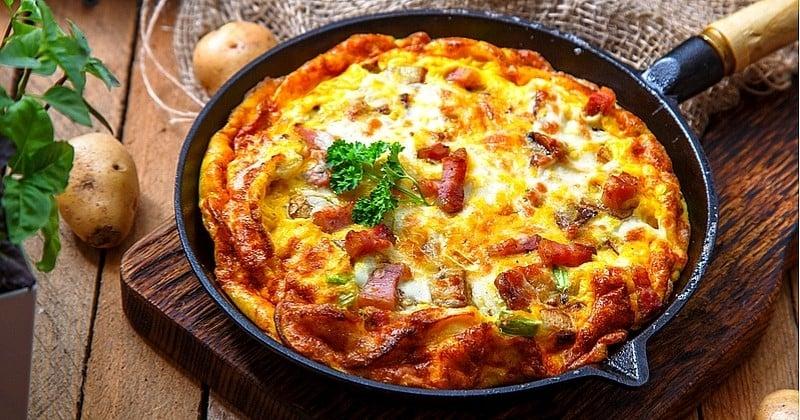 Omelette Savoyarde au reblochon et lardon