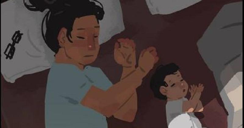 Ces adorables illustrations montrent le quotidien rythmé d'un père qui élève seul son fils