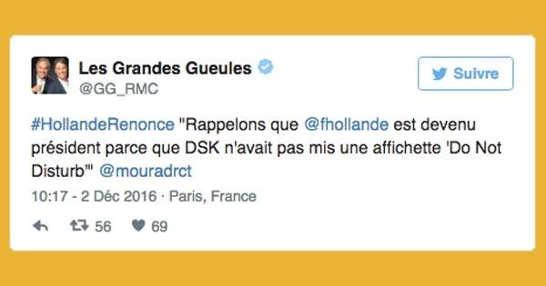 François Hollande renonce à la Présidentielle de 2017 : 35 réactions très drôles trouvées sur Twitter