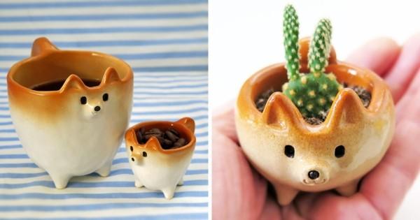 Il réalise des sculptures en céramique en forme de chiens Shiba Inu, et le résultat est trop mignon !