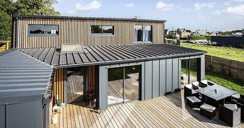 Il a construit une maison luxueuse à l'aide de six containers