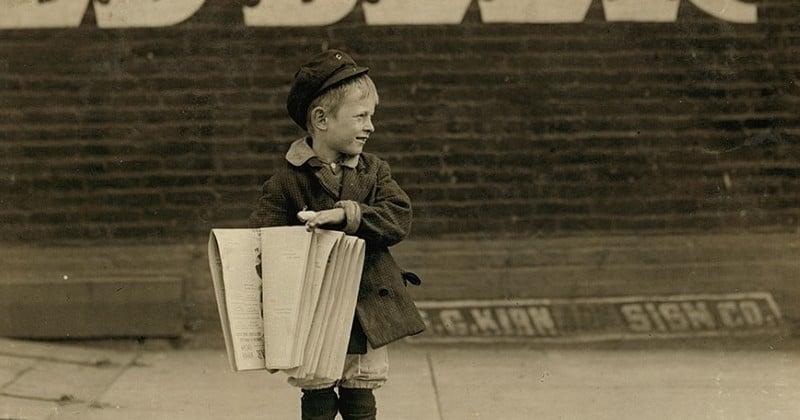 Ces photos témoignent de la dureté du travail des enfants dans les années 1900