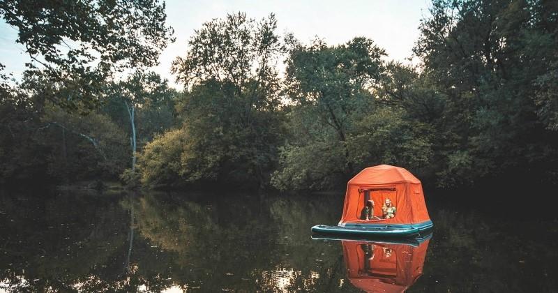 Voici la «Shoal Tent», la première tente flottante qui permet de camper sur l'eau