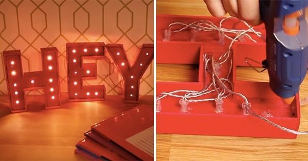 DIY : Faites-vous des lettres lumineuses personnalisées, trop stylées !