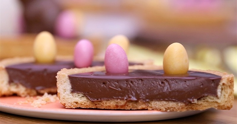 La Tartelette Chocolat Praliné, la gourmandise idéale pour utiliser vos restes de chocolats de Pâques !