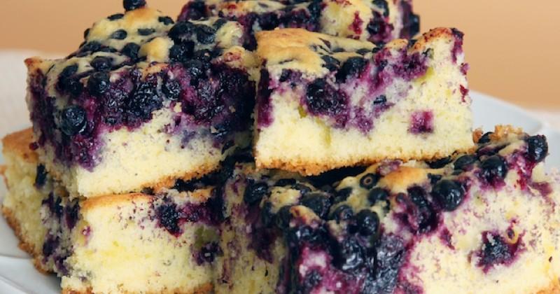 cake aux myrtilles et au fromage de chèvre