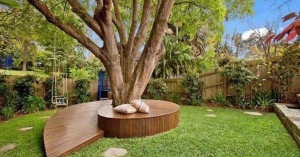 construisez un banc autour des arbres et entrez en communion avec la nature le tout dans un. Black Bedroom Furniture Sets. Home Design Ideas