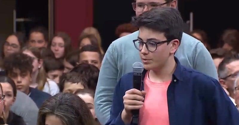 Lors du Grand débat sur l'écologie, un collégien de 14 ans met Macron face à ses responsabilités