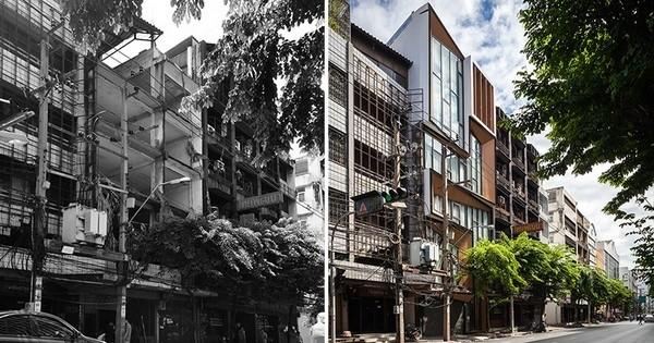 Avant / Après : la rénovation d'un ancien bâtiment commercial à Bangkok, en Thaïlande, en une maison contemporaine !