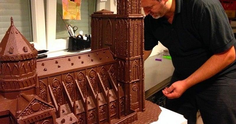 Un pâtissier reproduit la Cathédrale de Strasbourg tout en chocolat !