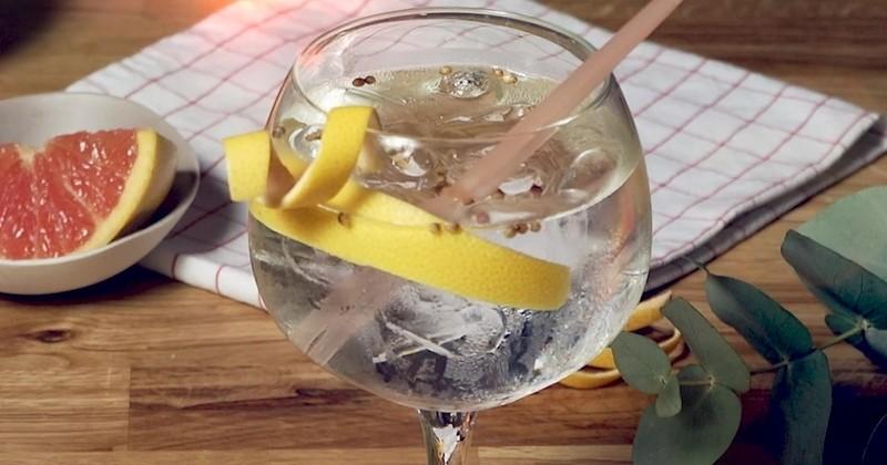 HTonik, un cocktail givré et fruité aux saveurs d'agrumes avec du Dry Gin HTK