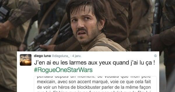 Diego Luna, la star de « Rogue One : A Star Wars Story », a partagé le plus gentil des messages de fan, qui l'a profondément ému. Car oui, il ne faut pas avoir honte de ses origines !