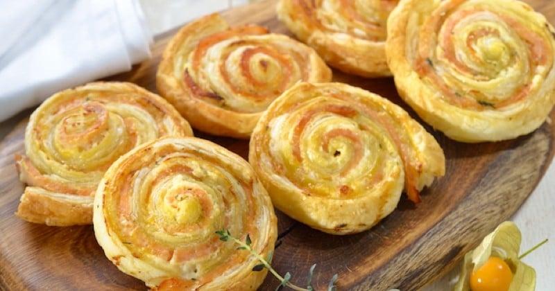 Réalisez des roulés de saumon aux herbes et au fromage pour l'apéro !